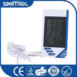 湿度計およびクロック温度を示すための多機能のデジタル体温計を使って、湿気