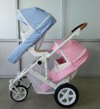 Neuer Entwurfs-genehmigte Luxuxfalten-Baby-Doppelt-Spaziergänger mit Europäer