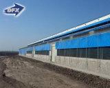 Costruzione d'acciaio della struttura di disegno della tettoia dello stabilimento lattiero-caseario per il granaio del pollame in Bangladesh