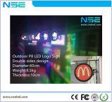 옥외 광고 표시 널, LED 빛/둥근 스크린을%s 가진 로고 널