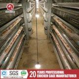 Galvanizado tipo H de la capa de pollo de granja de jaulas en batería Equipo para avicultura Equipo