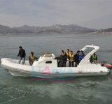 Vente de bateau de côte de cabine de bateau de passager de vitesse de Liya 8.3m petite