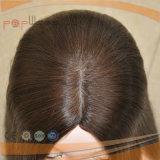 Parrucca superiore di seta di colore dei capelli neri del Virgin (PPG-l-01738)