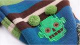 Vastgestelde Sjaal van de Hoed van de Sjaal van de Dekking van de Tik van de Handschoenen van de Sjaal POM Beanie van de Draai POM van de Kabel van de Winter van de Meisjes van de Jongens van de Kinderen van de Baby van jonge geitjes de Unisex-3PC Lange (SK408S)