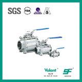 Válvula de bola 3 piezas de diámetro interior completo BSP W CF8M PTFE