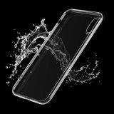 Transparenter Kristall - freier TPU Gel-Haut-Papiereinband-Fall für iPhone 8