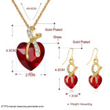 Серьги и ожерелье Zircon женщин ювелирных изделий конструкции способа установленные