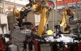 110kVA X Machine van het Lassen van het Type de Robotachtige voor de Zetel Slideway van de Auto