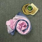 Écharpe en gros de mode de polyester avec la couleur dégradante (HT05)