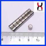 Sinterizado fuerte permanente pequeño cilindro de imán de neodimio ronda