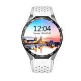 Mini Kw88 Reloj inteligente 1,39 pulgadas Mtk6580 Quad Core 1.3GHz Android 5.1 WiFi GPS 3G Reloj inteligente 400mAh 2.0 Mega píxeles de Monitor de Ritmo Cardíaco