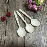Cucchiai biodegradabili del tè di minestra di Eco dell'amido di granturco cinese amichevole dei cucchiai