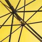 """"""" ombrello giallo con la maniglia del truffatore, ombrello diritto di golf di colore 30 con il tessuto del poliestere, facente pubblicità all'ombrello"""