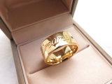 De Geplateerde Ring van de Juwelen van de manier 18K Goud met het Van letters voorzien in het Messing van het Koper voor de Mannen van Vrouwen