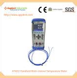 手持ち型の熱電対の温度計データ自動記録器(AT4202)