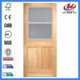 Diseño de madera reclamado de la puerta del guardarropa de la teca de madera