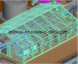 시멘트 더미를 가진 제조에 의하여 직류 전기를 통하는 U 강철 태양 설치 구조