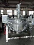 Inclinaison de la bouilloire à cuire revêtue de gaz de bouilloire faisant cuire la bouilloire de potage de bac