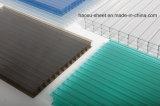 Hoja de Sun de la PC de la hoja de la depresión del policarbonato de la Cuatro-Pared para el material para techos