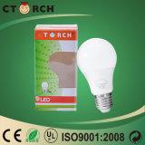 Nuova lampadina luminosa eccellente di serie 8With10With12With16W E27 LED del prodotto A60 di Ctorch