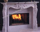 彫刻(SK-2568)が付いている最上質の大理石の暖炉