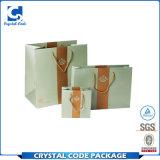 Sac à provisions recyclable réutilisable de papier de modèle d'OEM