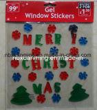Kerstmis schittert de Stickers van de Decoratie/van het Gel van de Gelei van het Venster