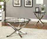良質の円形のTerperingの光沢のダイニングテーブル