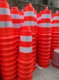 Beste Kwaliteit 900mm de Oranje Plastic Trommel van de Verkeersveiligheid