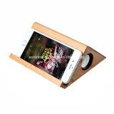 特別な三角形の形の無線Bluetoothのスピーカーが付いている木の小型スピーカー