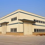 Vorfabrizierte helle Stahlkonstruktion-Werkstatt mit Aluminiumrinne