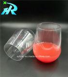 vidrio de vino plástico de la parte inferior plana de 12oz Tritan con iniciales