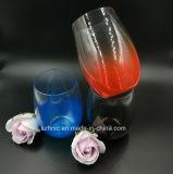 glace de cocktail en plastique remplaçable d'espace libre de cuvette du vin 450ml