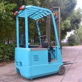 Грузоподъемник крытых колес оборудования 3 пакгауза миниый электрический в штоке с вилками Sideshift