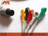 Cable de una sola pieza de AAMI 6pin ECG con los Leadwires