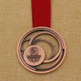 Medaglia lucida della stazione di finitura di maratona dell'oro del metallo su ordinazione per gli eventi