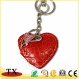 Amoureux de la mode cadeau coeur rouge en forme de chaîne de clés en cuir