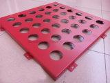 Parete decorativa del comitato perforato di alluminio caldo di vendita di colore rosso