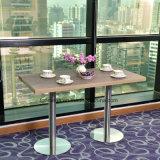 Tabella pranzante personalizzata del ristorante con legno ed il materiale della pietra