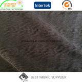 100% полиэстер 75D черного шифона гофрированной ткани платье ткань