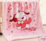 安い昇進の二重層のフランネルの柔らかさの赤ん坊毛布