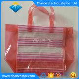 Embalaje impresa personalizada PVC Bolsa de mango con el botón