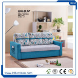 Base di sofà piegante di Seater del sofà 3 della traversina del tessuto poco costoso di prezzi di colore verde