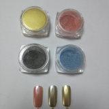 Colorant métallique de poudre de scintillement de chrome d'or de Salon de manucure