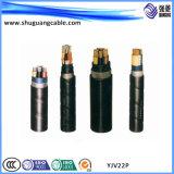 Recubierto de PVC aislante XLPE Cable de alimentación de voltaje medio