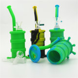 Kundenspezifische Krakeweed-Tabak-Wasser-Silikon-Öl KLEKS Großhandelsanlage mit Glasfilterglocke für das Rauchen