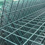 Pvc van uitstekende kwaliteit bedekte de Omheining van het Netwerk van de Draad met Kromming met een laag