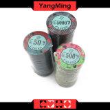 Diseño impreso personalizado/ Circular Juegos de Casino Poker Fichas de cerámica de fichas de Casino (YM-CP007)