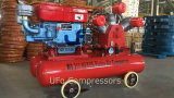 Compresseur d'air diesel portatif mobile mobile de vente chaude avec le réservoir d'air