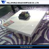 Alta mobilia di marmo lucida bianca della sala da pranzo delle presidenze della Tabella pranzante